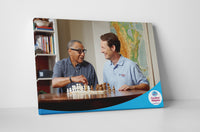 Comfort Keepers Game of Chess Canvas Wall Art
