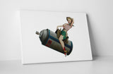 Banksy Spray Can Rodeo Girl Stretched Canvas Wall Art