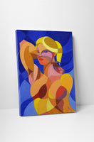 Cubist Portrait Canvas Wall Art