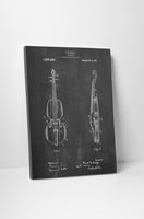 Violin Patent Canvas Wall Art