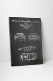 Corvette Stingray Patent Canvas Wall Art