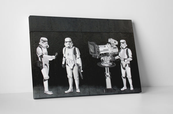 Banksy Stormtroopers Filming Oscars Canvas Wall Art