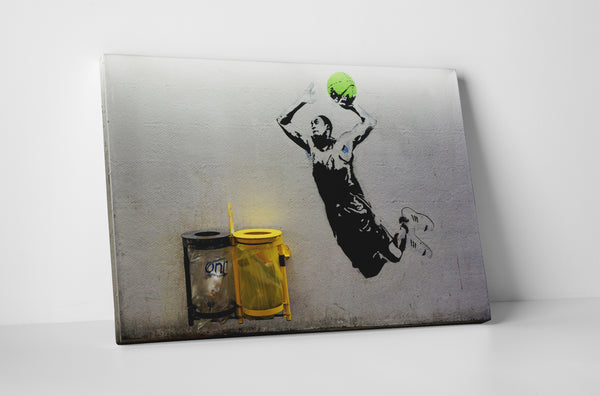 Banksy Slam Dunk Stretched Canvas Wall Art