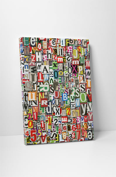 Newspaper Clippings Canvas Wall Art