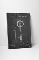 Edison Electric Lamp Patent Print Canvas Wall Art