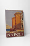 Napoli Italy Vintage Travel Poster Canvas Wall Art