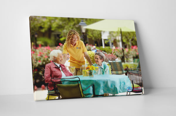 Comfort Keepers In The Garden Canvas Wall Art