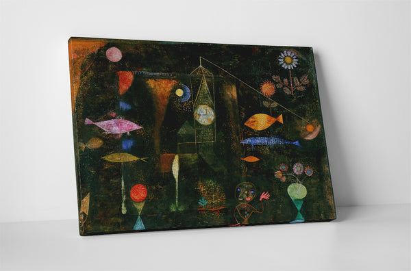 Paul Klee Fish Magic Canvas Wall Art
