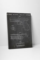 Glock 17 Firearm Patent Canvas Wall Art