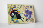Wassily Kandinsky Schwarz And Violet Canvas Wall Art