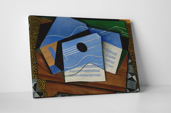 Juan Gris Guitar On A Table Canvas Wall Art