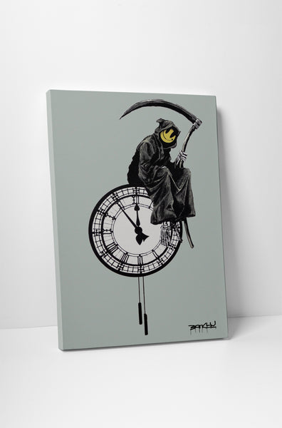 Banksy Grin Reaper Canvas Wall Art