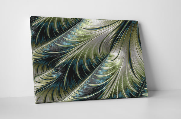 Shimmering Feathers Canvas Wall Art
