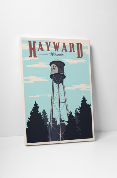 Steve Thomas Hayward Wisconsin Water Tower Canvas Wall Art