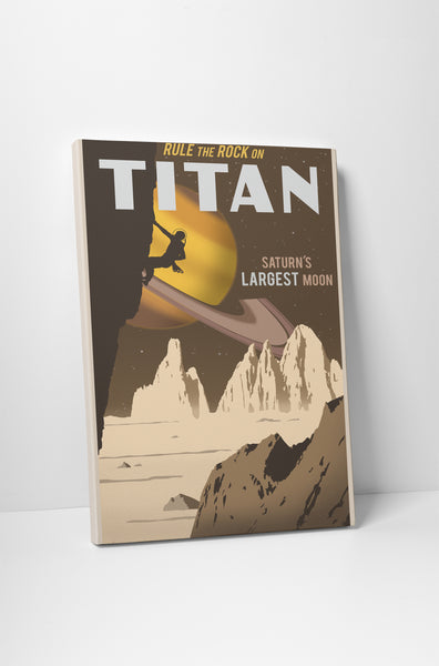 Steve Thomas Rock Climbing on Titan Canvas Wall Art