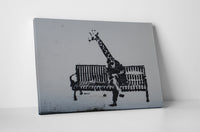 Banksy Business Giraffe Canvas Wall Art