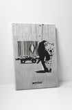 Banksy Barcode Leopard Canvas Wall Art