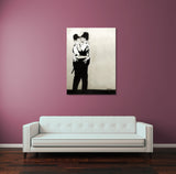 Banksy Kissing Coppers Canvas Wall Art