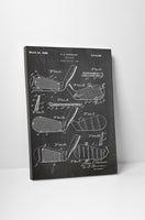 Golf Club II Patent Canvas Wall Art