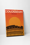 Colosseum Vintage Travel Poster Canvas Wall Art