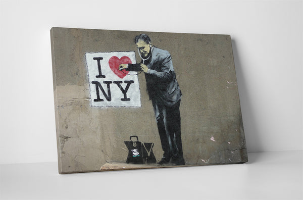 Banksy I Love New York Canvas Wall Art