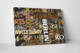 Abstract City Names II Canvas Wall Art