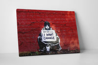 Banksy - I Want Change Keep Your Coins