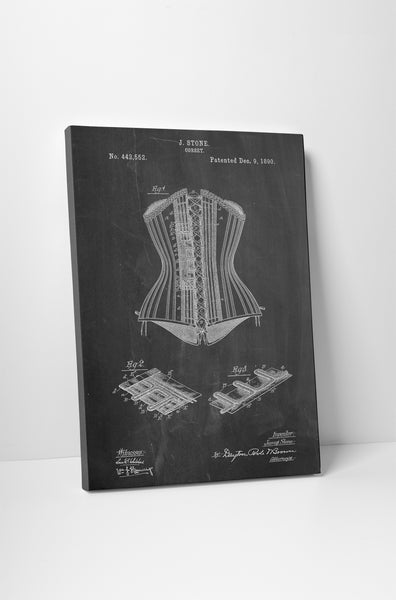 Corset Patent Canvas Wall Art