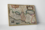 Vintage Map Terra Sancta (Holy Land) Canvas Wall Art