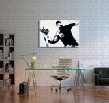 Banksy Flower Thrower Canvas Wall Art