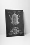 Coffee Pot Patent Canvas Wall Art