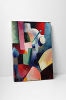 August Macke  Colored Composition Of Forms Canvas Wall Art