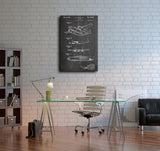 Hughes Airplane Patent Canvas Wall Art