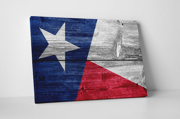 State Of Texas Vintage Flag Canvas Wall Art
