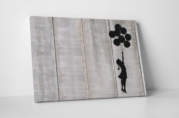 Banksy Flying Balloons Girl Canvas Wall Art