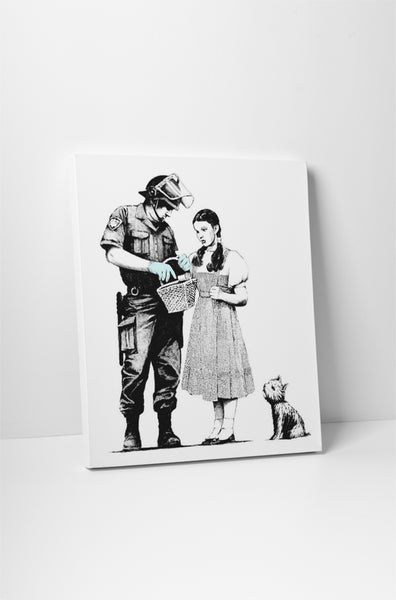 Banksy Dorothy Police Search Canvas Wall Art