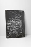 Aircraft Jet Engine Patent Canvas Wall Art