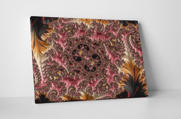 Feathers Lace Knit Canvas Wall Art