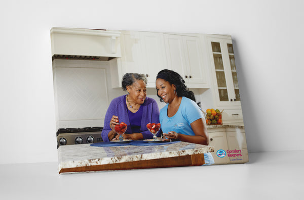 Comfort Keepers Afternoon Dessert Canvas Wall Art