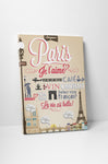 Paris Vintage Travel Poster Canvas Wall Art
