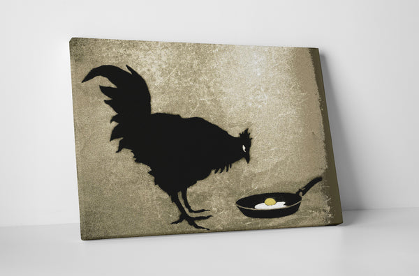 Banksy Chicken and The Egg Canvas Wall Art