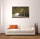 Banksy Cave Painting Canvas Wall Art