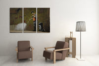 Banksy Cave Painting Canvas Triptych Canvas Wall Art