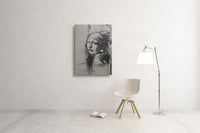 Banksy Girl With a Pierced Eardrum Canvas Wall Art