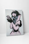 Banksy Snow White With Grenade Stretched Canvas Wall Art