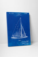 Sail Boat Patent Canvas Wall Art