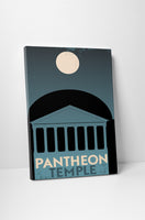 Pantheon Greece Vintage Travel Poster Canvas Wall Art