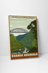 Steve Thomas Canoe The Scenic Georgia Canvas Wall Art