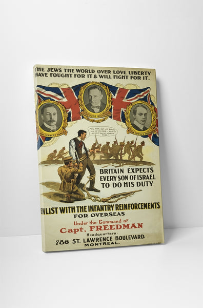 Enlist With Infantry Poster
