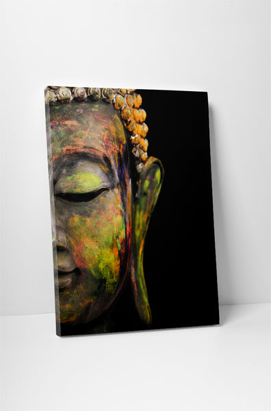 Painted Buddha Canvas Wall Art